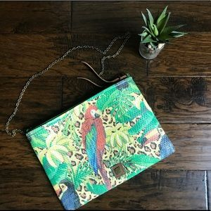 Handbags - Parrot Bird Coated Paper Crossbody Bag